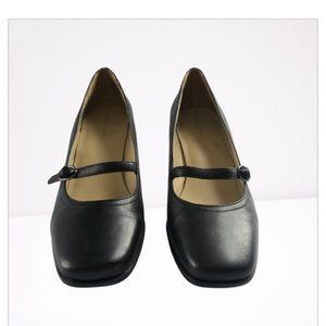 Rockport Leather Maryjane Block Heel Comfort Shoes